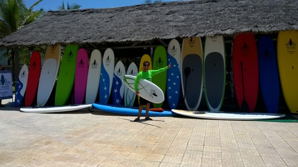ダナンサーフィンビーチスタンドアップパドルレンタル