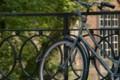 ブルージュ。柵と自転車。 #Eye-fi