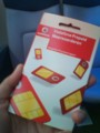 旅も後僅かになってからようやくvodafoneのsimカードゲット。月1GBで20ユ