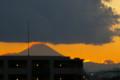 今年最後の富士山と夕焼け。