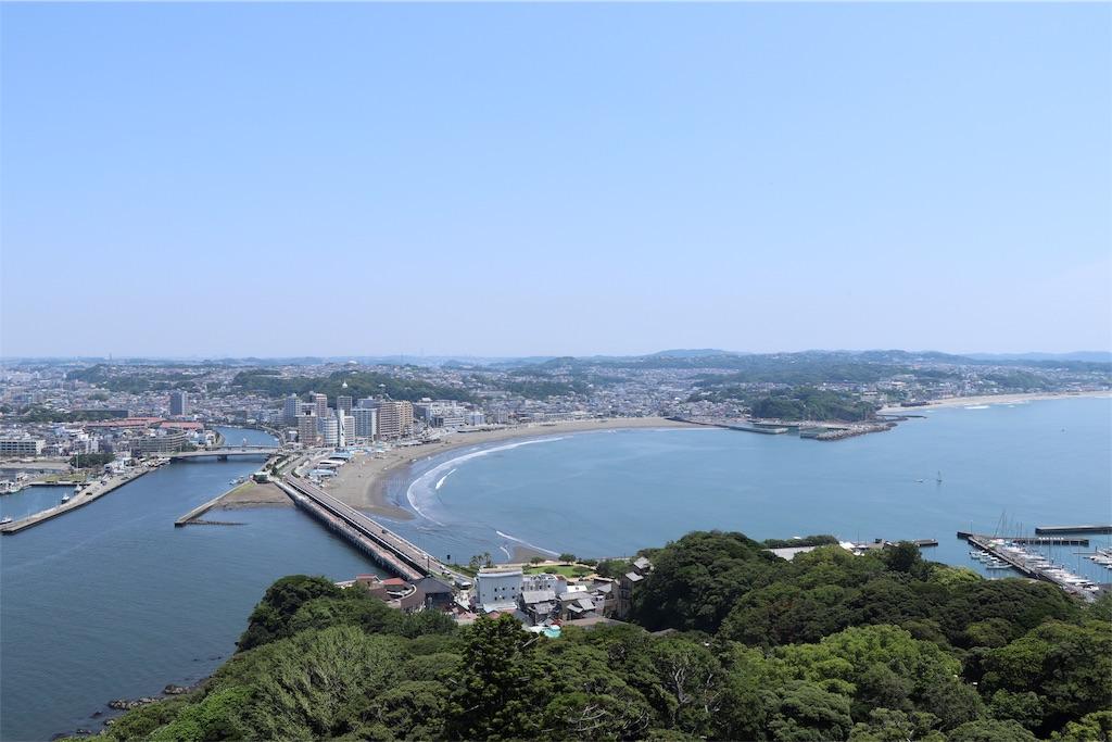 展望台から見た江の島の景色