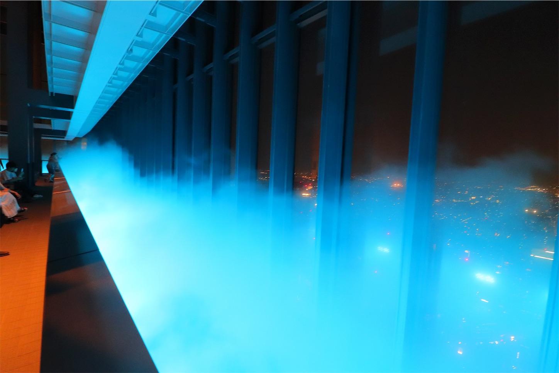 ミッドランドスクエアの光と霧の演出