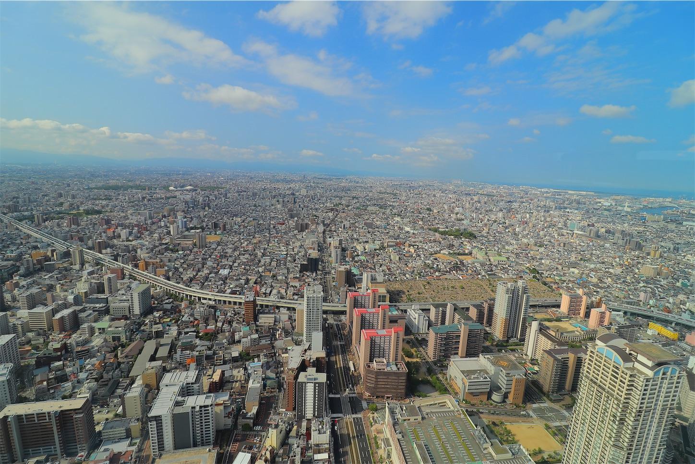 大阪マリオット都ホテルの51階の景色