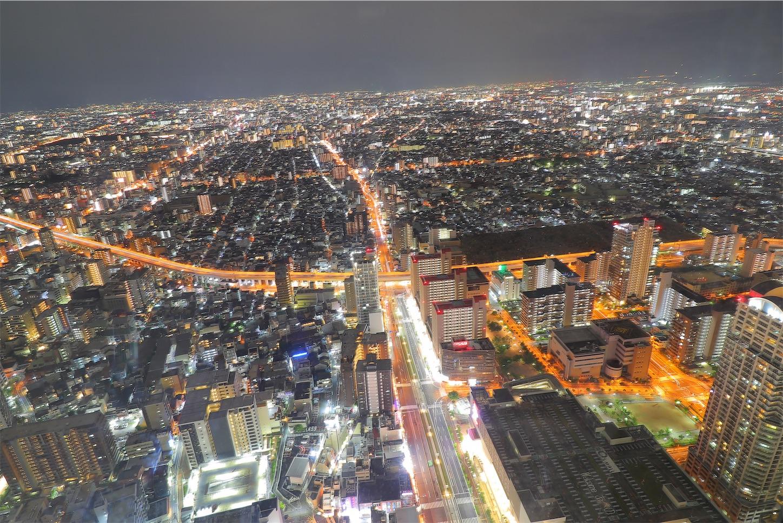 大阪マリオット都ホテルの51階からみる南側の夜景