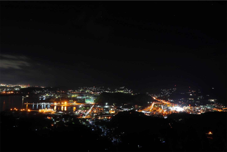 室蘭市 測量山から見た室蘭夜景