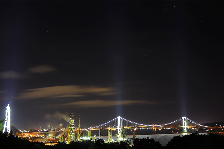 白鳥湾展望台からみた室蘭夜景