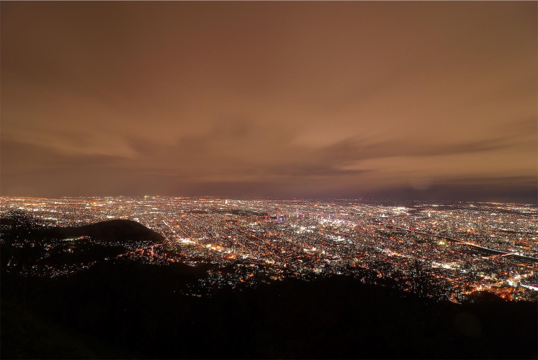 藻岩山展望台から見る札幌市の夜景