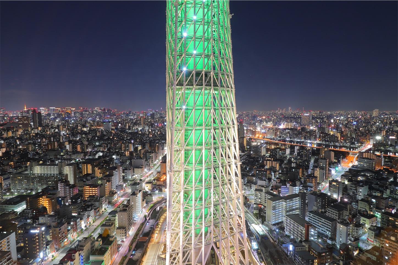 スカイツリーイーストタワー30F展望台 夜景
