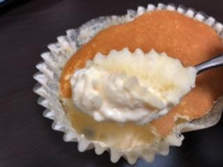 北海道チーズ蒸しケーキのとろけるプリン3