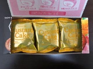 カスタードケーキ カスタードくりーむ&あまおう苺味2