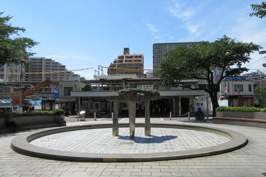 板橋駅東口噴水池