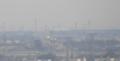 高崎市役所展望ロビーから熊谷のドーム
