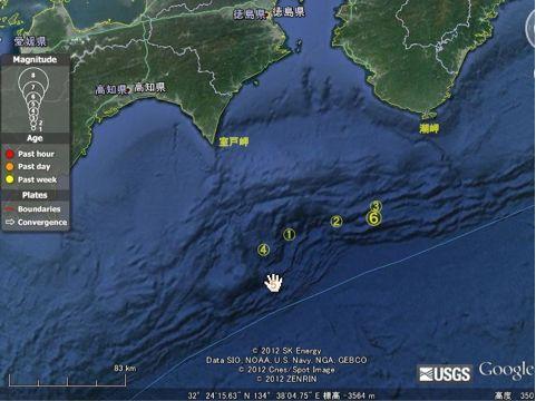 南海トラフ地震ダウジング予測