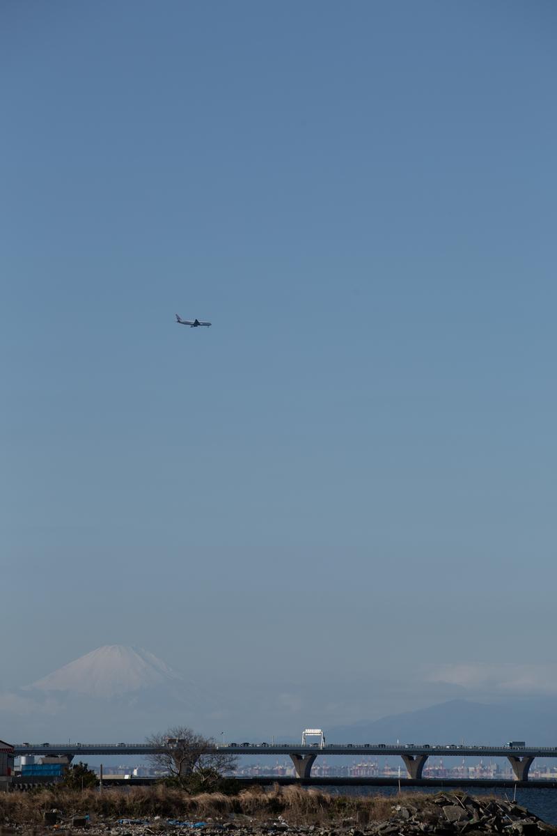木更津アウトレット駐車場 富士山