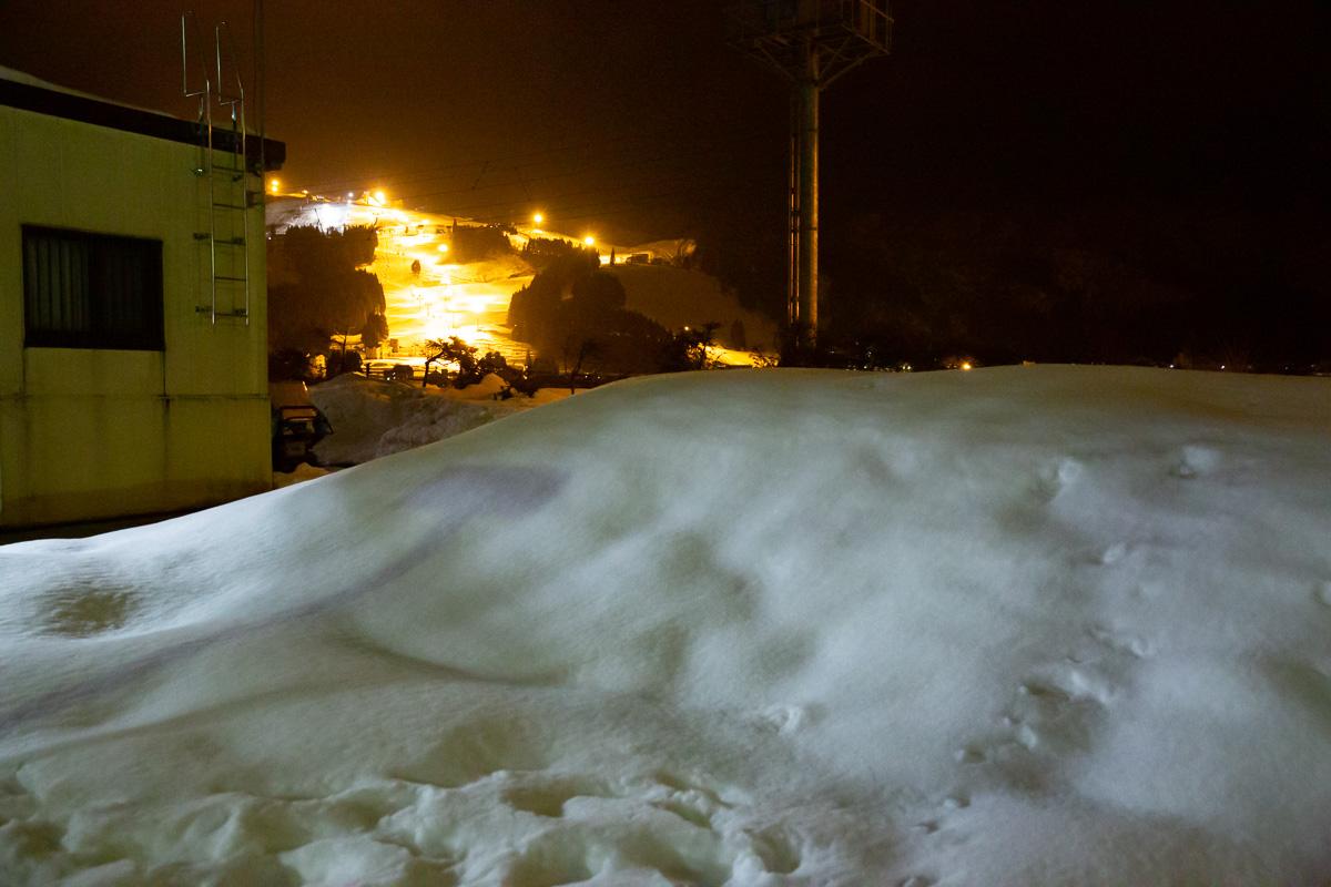 塩沢石打上りからの岩打丸山スキー場