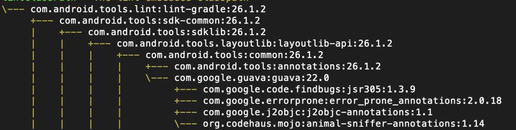 【Android】ライブラリの依存関係を調査する方法(gradle)