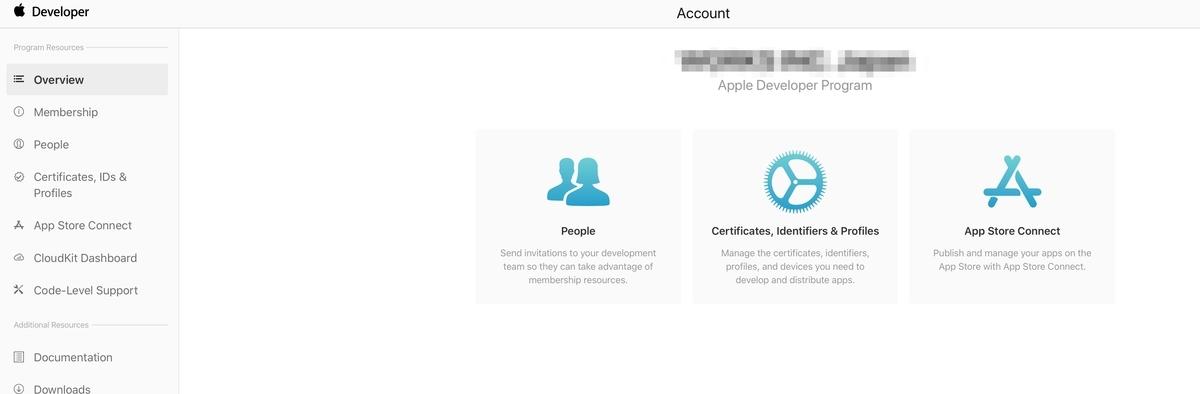 Apple Developer Programのメンバー追加は、個人アカウントでは出来ないっぽい
