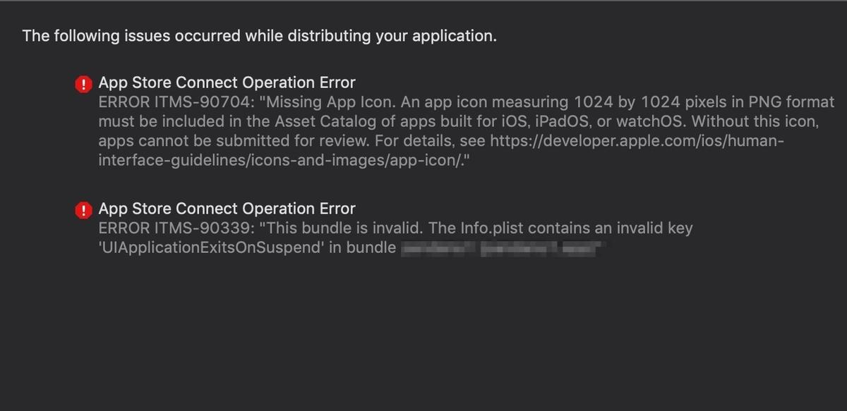【iOS】App Store Connectへアプリアップロード時に「ERROR ITMS-90339」のエラーが出る場合の対処法(Unity)