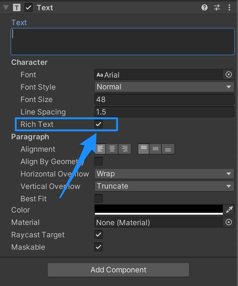 【Unity】GUI Textの一部を別の色に変更する方法