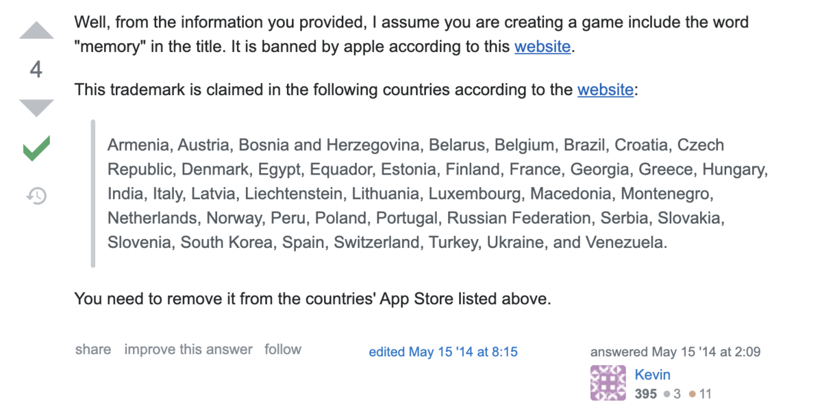 iOSアプリのリジェクトGuideline 5.2.1 - Legal - Intellectual Propertyに関するメモ