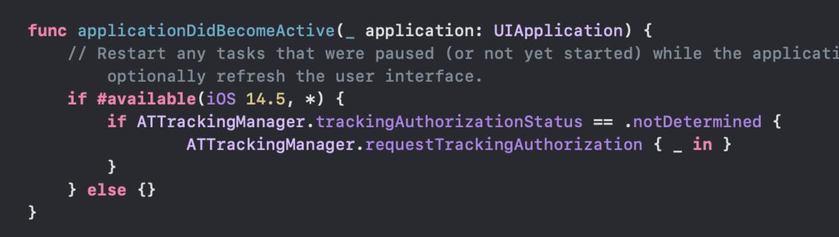 ATTダイアログがiOS14では表示されたのにiOS15では表示されなくなってしまった場合の対処法