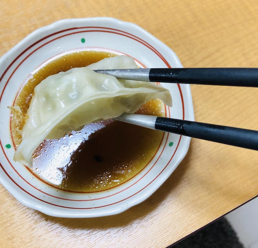 クチポール ゴア 箸 餃子 アップ