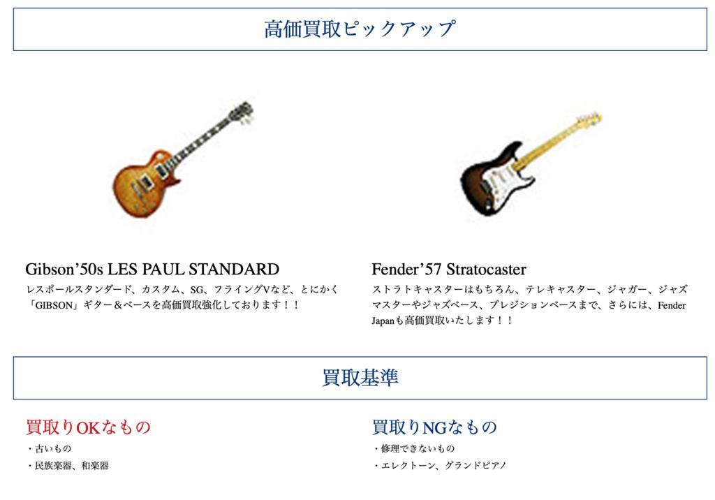 コメ兵ではギターも売れる