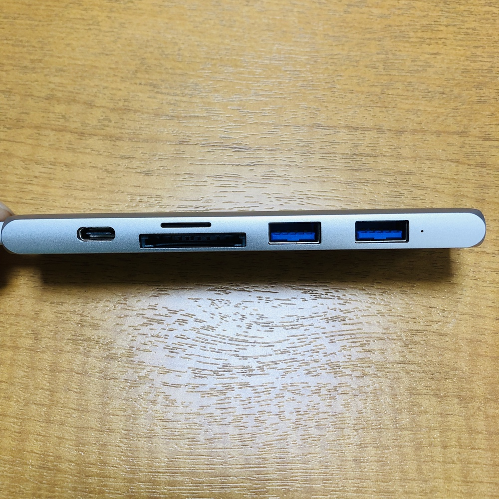 SATECHI SLIM V2 USBハブ 横面