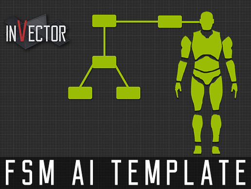 invector fsm ai template 射撃武器を使う敵の制作方法 how to set up