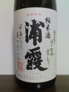 浦霞 純米酒 ラベル