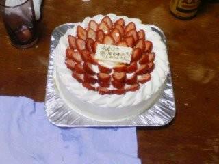 20100424 お祝いケーキ