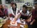 20100424 ケーキカット おめでとう!!