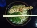 20111103 昼練:こがね製麺所善通寺本店 温かけ中+ちくわ天