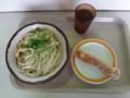 20120715 昼練:まごころうどん 温かけ中+ちくわ天