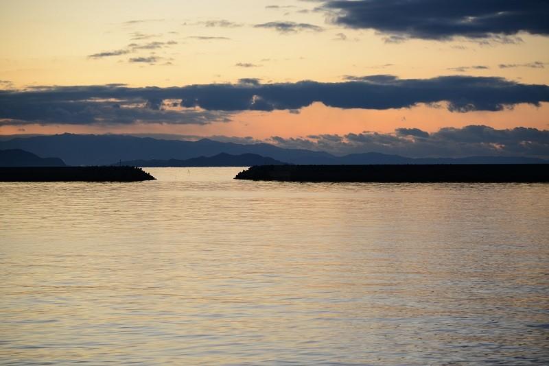 20130104 夕暮れの瀬戸内海