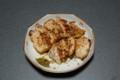 20130201 鶏胸肉ガーリックソテー 柚子胡椒添え