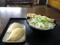 130901 昼練(LSD):つる一 温かけ小+ちくわ天&イナリ寿司