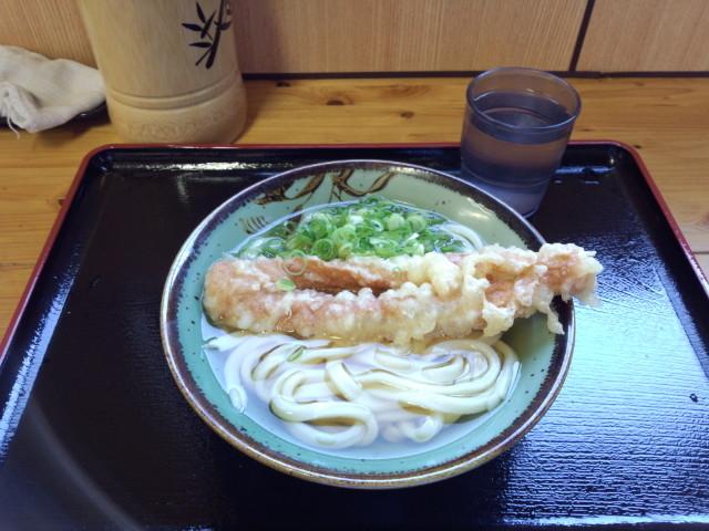 20130929 昼練(LSD):鳥越製麺所 温かけ小+ちくわ天