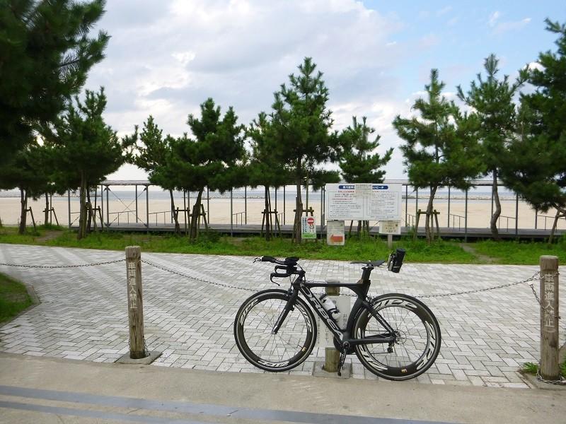 20140819 夕練:寒川海水浴場にて…