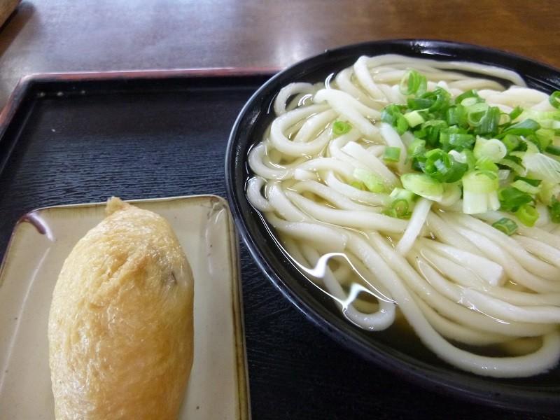 20140907 つる一 温かけ小+イナリ寿司