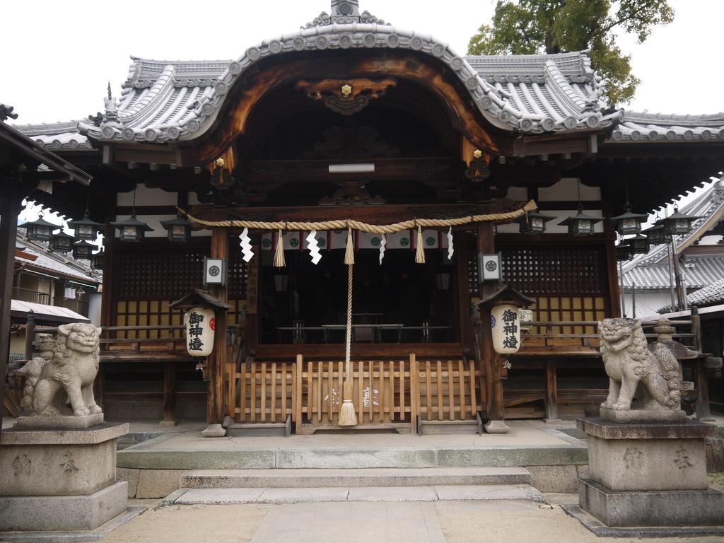 門真神社の拝殿
