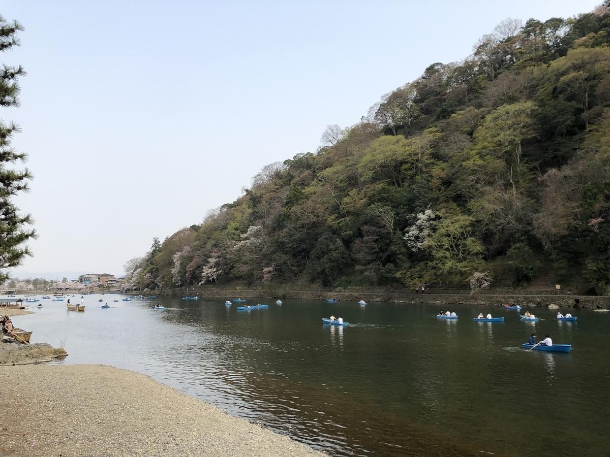 手漕ぎボート 京都嵐山