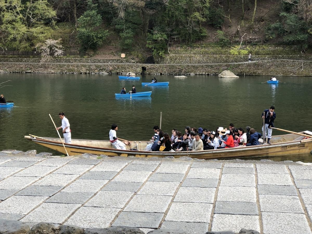 屋形船 嵐山 ボート
