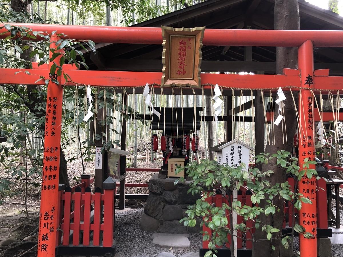 野宮神社 京都嵐山 白福稲荷大明神
