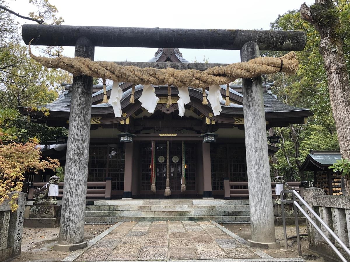 拝殿 阿比太神社 御朱印