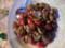 ひよこ豆とアサリ、焼きトマトのサラダ