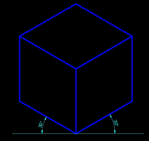 AutoCADでアイソメ図用に、図形を変形する方法