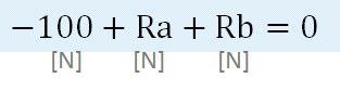 -100+Ra+Rb=0