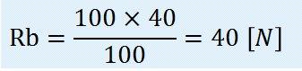 RB=100×40÷100=40N