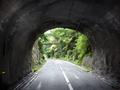 長野隧道(二代目(旧))坑内から大山田(伊賀市)側を望む